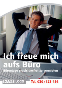 business werbung plakativ